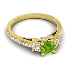 Peridot | Gemstones | Gold | Three stone ring | wedding | engagement | jewelry