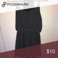 Super cute polka dot dress Size Small Size Small black and white polka dot dress great for summer! Dresses Asymmetrical
