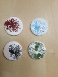 Mocha diffusion pendants.(iron oxide,blue pigment,manganese oxide and chrom oxide mocha teas