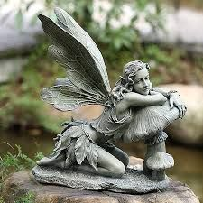 Find This Pin And More On Magickal Forest Enchanted Garden. Garden Sitting  Fairy Napco Marketing Corporation Outdoor Statuary ...