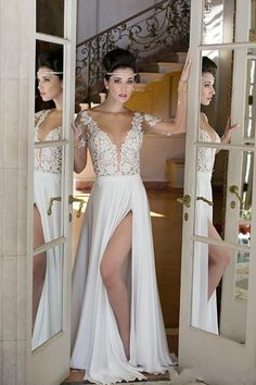 Wedding Dresses Lace Iullsion Bodice Sexy Design Split Bridal Gowns Cheap Price Long Sleeve Fashion Design Beautiful Cheap Price Elegant Wedding Dresses Cheap Black Wedding Dresses From Lovemydress, $127.64| Dhgate.Com