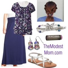 Iridescent Butterfly - The Modest Mom fashion outfit