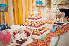 Dessert Table At Wedding Reception Cute To Add Colored Fun Soda Bottles