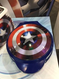 Captain America waffle maker, or as I like to call it GIVE IT TO ME NOW