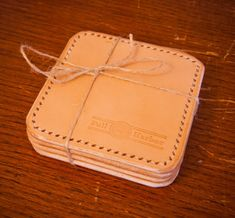 Leather Coasters   Pack of 4   Full Harbor  $40.00