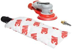 "3M Random Orbital Sander - Elite Series 28514, Air-Powered, Self-Generated Vacuum, 5 Inch, 3/16"" Orbit"