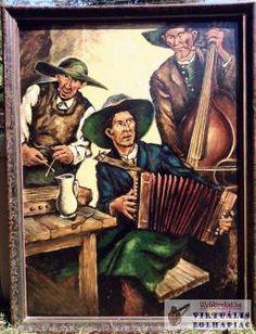 Muzsikusok, kocsmában játszó holland zenészcsapat portréja a XX. Painting, Art, Art Background, Painting Art, Kunst, Paintings, Performing Arts, Painted Canvas, Drawings