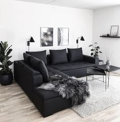 affordable apartment living room design ideas on a budget ~ Home of Magazine Living Room Decor Cozy, Living Room Interior, Home Living Room, Living Room Designs, Bedroom Decor, Decor Room, Small Apartment Living, Living Room Ideas Dark Couch, Cozy Living