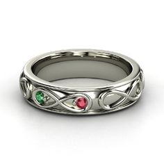 I am absolutely in love with this... infinity love with birthstones...wedding band?!?