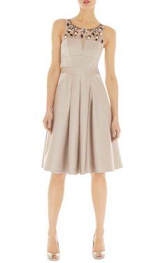 Vestidos | Vestido abalorios geométricos | Karen Millen