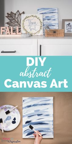 DIY abstract canvas