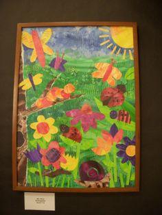 Kindergarten Eric Carle inspired paper collage.