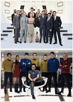"""For once, i can say i loved J.J. Abrams before he was """"cool!!"""" the Star Trek cast & Abrams"""