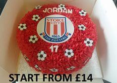 FOOTBALL STOKE CITY SCFC Stoke City, Birthday Cakes, Football, Soccer, Futbol, Birthday Cake, American Football, Happy Birthday Cakes, Soccer Ball