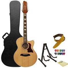 Sincere Ammoon 41 Acoustic Guitar Cutaway Folk Guitar Rosewood Fingerboard With Gig Bag Capo Tuner Cleaning Cloth Strings Guitar Strap Customers First Sports & Entertainment Stringed Instruments