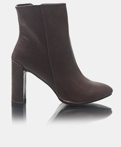 Ankle Boots - Choc Block Heels, Leather Boots, Zip Ups, Ankle Boots, Vogue, Booty, Pairs, Shopping, Shoes