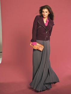 Ideal für kleine Frauen: luftig schwingernder Maxirock aus Georgette. Sie brauchen: Georgette, 145 cm breit: 5,10 – 5,10 – 5,10 – 5,20 – 5,2