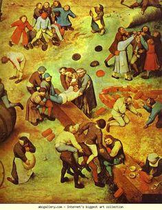 Pieter Bruegel the Elder. Children's Games. Detail.