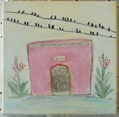 The Pink House by ColetteCopeland on Etsy