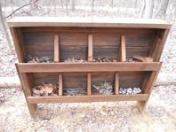 Gathering Area - I love this little place where the children can collect and sort while outdoors!! A few baskets would go great with this so they can go foraging! :)