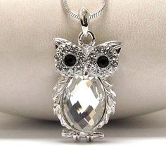Crystal Owl Pendant Necklace. Starting at $1