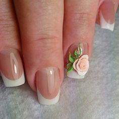☺ Nail French, Beautiful Nail Designs, Nail Art, Beauty, Nail Manicure, French Tips, Nail Arts, Beauty Illustration, Nail Art Designs