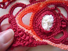 freeform crochet bangle