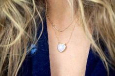 Moonstone Layering Necklace Moonstone Bar by AidenModernVintage