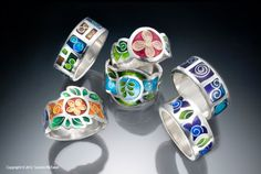 Sandra McEwen Enamel Jewelry