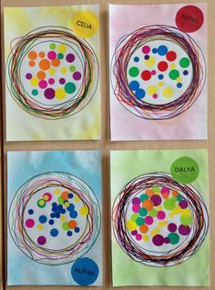 Circle Crafts, Circle Art, Yayoi Kusama, Kandinsky, Fall Arts And Crafts, Dot Day, Kindergarten Art Projects, Fall Art Projects, Ecole Art