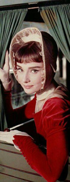 Audrey Hepburn as Natasha Rostova in War and Peace 1956.