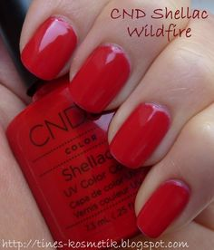 CND shellac in Wildfire... another option for an upcoming wedding.