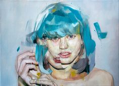 """Three"" - 30cm x 40cm - Oil on stretched canvas - Benjamin García"