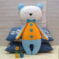 Animal Toys handmade. Livemaster - handmade. Buy Sleeping bear - toy komforter to sleep.Photo, photoshoot