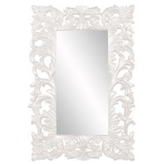 "Howard Elliott Augustus Glossy White Mirror 46"" x 70"" x 2.1/2"""