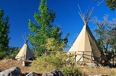 Teepees at Lake Owyhee State Park (Malheur County,