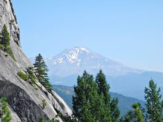 Mt. Shasta views! Crags Trail to Castle Dome @ Castle Crags State Park near Dunsmuir, California.