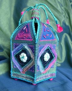 Embroidered Box by Boxoftrix, via Flickr