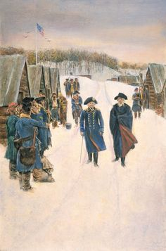 Von Steuben and Washington at Valley Forge