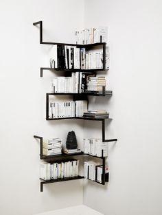 牆角簡緻書櫃設計