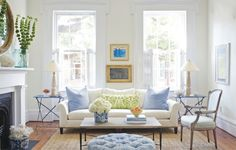 Eclectic Mix - pillows, art... it's all the little things that can make a big design Lynn Morgan Design