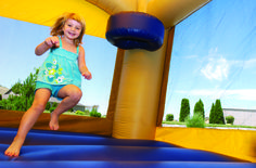 Fun in the bounce house at the Eagle Ridge Community BBQ.