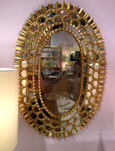 a pretty mirror Peacock Mirror, Mirrors, Decorating Ideas, Interior Design, Pretty, Beauty, Home Decor, Sun Mirror, Nest Design