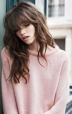 Layer Cut with Bangs for Wavy Hair                                                                                                                                                                                 More