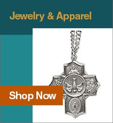 Discover a beautiful selection of Catholic jewelry at Leaflet Missal, ranging from bracelets and rings to medals and symbol pins.