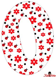 Flowers and Ladybugs Free Alphabet. Alfabeto de Flores y Mariquitas. Diy And Crafts, Arts And Crafts, Paper Crafts, Applique Designs Free, Lady Bug, Class Decoration, Sewing Material, Alphabet And Numbers, Letter Art