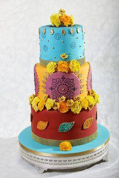 ASIAN INSPIRED WEDDING CAKE by CAKEWALK CREATIONS - Designer Cakes, via Flickr