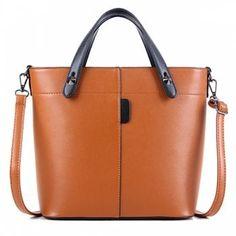 PU Leather Metal Rivets Tote Bag