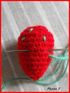 tuto fraise crochet français