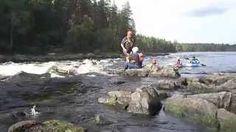 Melontaopaskoulutuksen virtaavan veden osuus Neitikoski, Ruunaa. Tässä opetetaan stopparin läpilaskua.